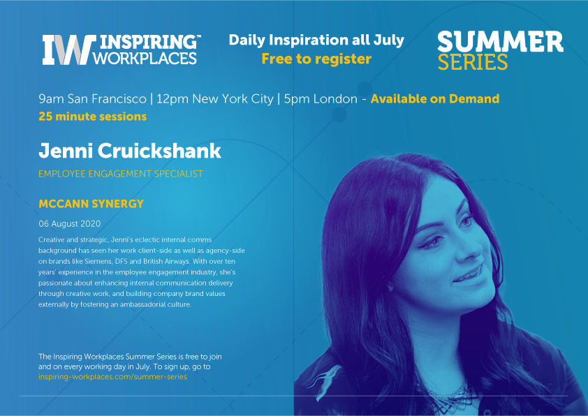 On Demand Video: Driving Change with energy, inclusivity and fun | Jenni Cruickshank