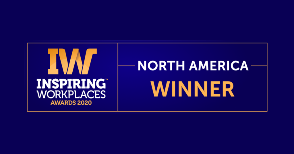 Winners announced for the first 2020 North American Inspiring Workplaces Awards