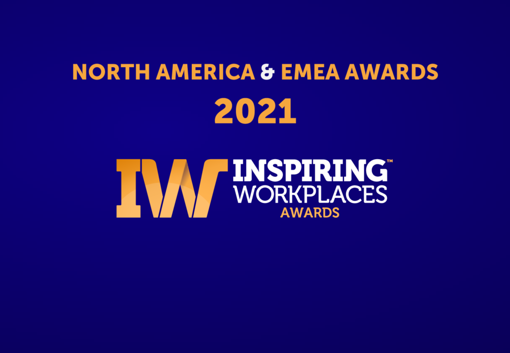 Winners announced for the 2021 Inspiring Workplaces Awards in EMEA and North America